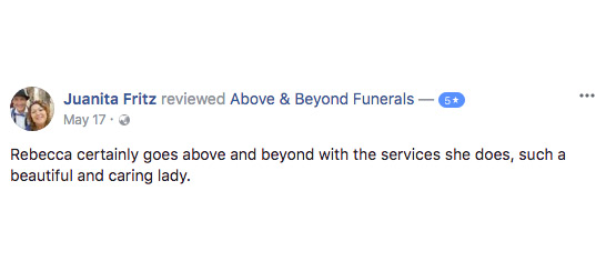 Above and Beyond funerals Gold Coast Sunshine Coast Brisbane Reviews testimonials