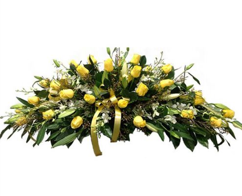 Yellow-Ros Floral arrangements above and beyond funerals