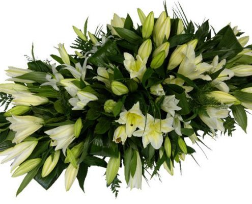 white-lily- Floral arrangements above and beyond funerals