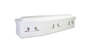 Triple raised lid white above and beyond funeral services gold coast